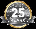 Celebrating over 25 years medallion